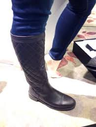 chanel quilted boots. chanel quilted high boot - saks better in black boots h
