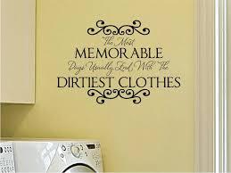 vinyl wall art for laundry room