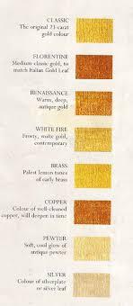 Gold Karat Color Chart Soft Gold Paint Colors The Original 23 Carat Gold