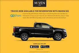 GoShare Partners with GM's Maven to Bring Pickup Trucks to the ...