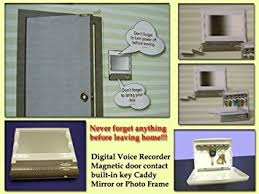 mirror key holder. senior digital voice reminder with magnetic door contact, key holder and mirror or photo frame