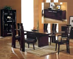 contemporary dining room sets two white leather dining chair black leather dining chair classic dining table brown polished walnut dining table high back