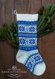 snowflake christmas stockings. Delighful Snowflake White Wool Nordic Snowflakes Stocking From MerryStockings With Blue Trim  For Snowflake Christmas Stockings E