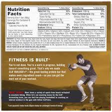 4 pack clif builder s protein bar chocolate peanut er 20g protein 6 ct walmart