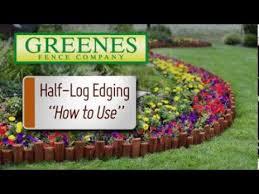greenes edging half log you