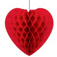 Amscan 14 in. Valentine's Day <b>Heart</b>-<b>Shaped</b> Honeycomb Hanging ...