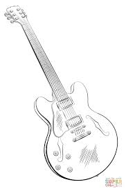 Small Picture Electric guitar coloring page Free Printable Coloring Pages