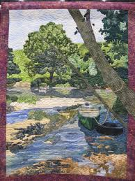 Quilt Show 2011 | The Water Witch's Daughter & This is a lovely nature scene. I wish I could just step into the boat and  row around a bit in the tranquil water. The trees are awesome, and I love  the ... Adamdwight.com