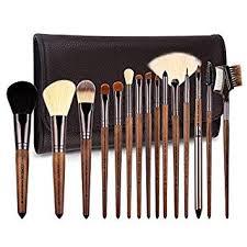 zoreya makeup brushes premium real walnut 15pc high end makeup brush set for cosmetic make up