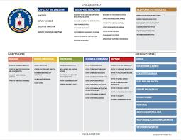 Organizational Chart With Description Cia Organization Chart Central Intelligence Agency