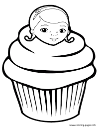 Small Picture doc mcstuffins cupcake Coloring pages Printable