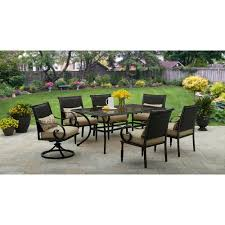 green wrought iron patio furniture. better homes and gardens englewood heights ii 7piece patio dining set seats 6 green wrought iron furniture o