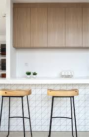 t4 mw pl matte white geometric triangle tile used in kitchen island design