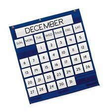 Pacon Calendar Weather Pocket Chart Pacon Monthly Pocket Chart Blue 25 X 28 For Sale Online