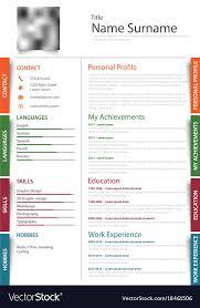 Professional Design Resume Professional Resume Cv With Colored Design