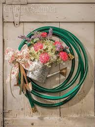 Pin by Myrna Blair on Wreaths | Garden hose wreath, Summer door wreaths,  Summer wreath diy