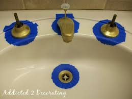 if you re just painting a faucet there s no need to cover the entire room because spray paint is such a fine