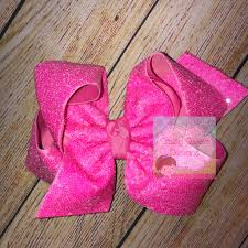 Sassy Sweet Designs Neon Pink Sassy Sequins Hair Bow