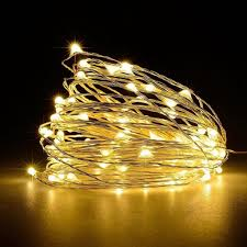 Warm White Light String Silver Wire Led Fairy String Lights Warm White