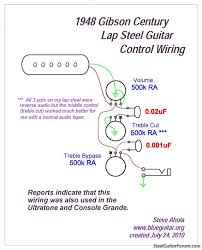 the steel guitar forum view topic the wait begins the wait p s here is a wiring diagram although i called it a treble bypass control i meant to say treble pass which is the same as bass cut my bad