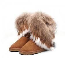Ugg Women Fox Fur Short 8288 Chestnut