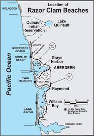 Tide Chart Long Beach Wa Razor Clam Seasons And Beaches Washington Department Of