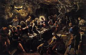 the last supper as painted by ghirlandaio leonardo and tintoretto