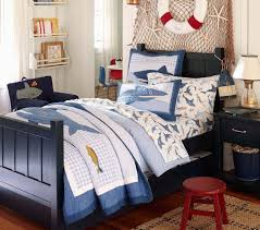 Love This Little Boys Room , From The Navy Blue Bed And The Shark Sheets,  What Lil Guy Wouldnu0027t Like This. The Fish Net On The Wall And Just Glue  Some Sea ...