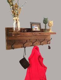 Coat Key Rack Custom Interior Entryway Shelf With Hooks Rustic Entryway Shelf With
