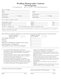 Photography Businesstract Template Forms Model Form Wedding Pdf
