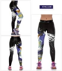 women colorful printed yoga high waist fitness athletic leggings stretchy workout leggings