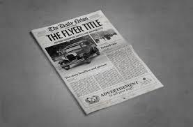 Newspaper Template Illustrator 1 Page Newspaper Template Illustrator