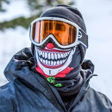 Fleece Face Shield Mask Neck Gaiter Winter Clown Design Sa Team