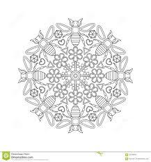 Kleurplaat Bijen Mandala Mandala Pour Des Enfants Avec Des Abeilles