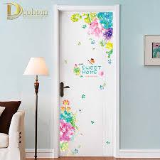 Bảng Chữ Cái Tiếng Anh Cửa Tủ Lạnh Miếng Dán Hoa Nhiều Màu Sắc Hoa Bướm Dán  Tường Trẻ Em Bé Gái Phòng Hoa Nội Thất Đề Can|Miếng dán tường