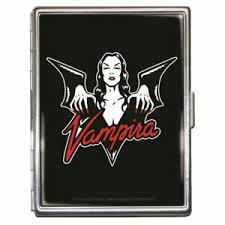 Halloween Business Cards Details About Vampira Batty Halloween Monster Id Case Business Card Holder Metal Wallet