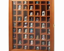 display cases herrschners 59 thimble deluxe thimble case with glass door accessory offers