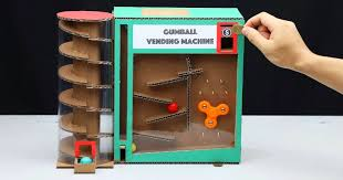 Vending Machine Science Project Impressive DIY Amazing Gumball Vending Machine With Coin From Cardboard Sia