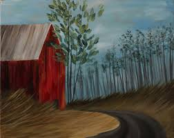 summer barn step by step acrylic painting on canvas for beginners
