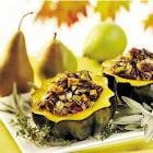 acorn squash stuffed w  pears  wild rice  walnuts