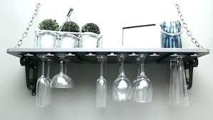 ellington wine rack and glass holder wall shelf mounted rustic wood hanging kids room c