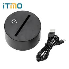 Itimo 3d Lamp Base Colorful Bedside Lamp 3d Effect Led Night Light