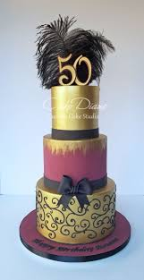 Burgundy And Gold 50th Birthday Cake Cakecentralcom