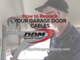 how to fix garage door cableHow to Replace Your Garage Door Cables  YouTube