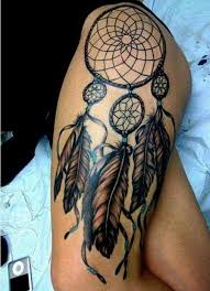 Dream Catcher Tattoo On Thigh 100 Meaningful Dreamcatcher Tattoo Designs Thigh tat Tatting and 2