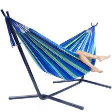two person hammock with stand. Double Hammock With Space-Saving Steel Stand. 1 Two Person Stand K