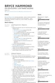 Iphone Programmer Sample Resume Custom Programmer Resume Template Commily