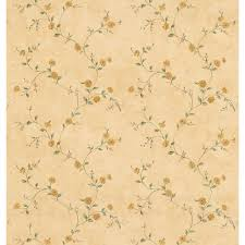 Yellow Kitchen Wallpaper Brewster Cottage Living Yellow Rosebud Trail Wallpaper Sample 403