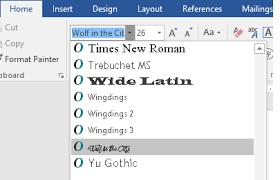 Add A Font Word