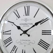 large round wall clock large round wall clock large round silver wall clock melody maison